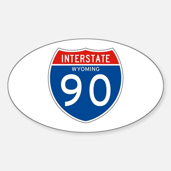 Interstate 90 - WY Oval Decal