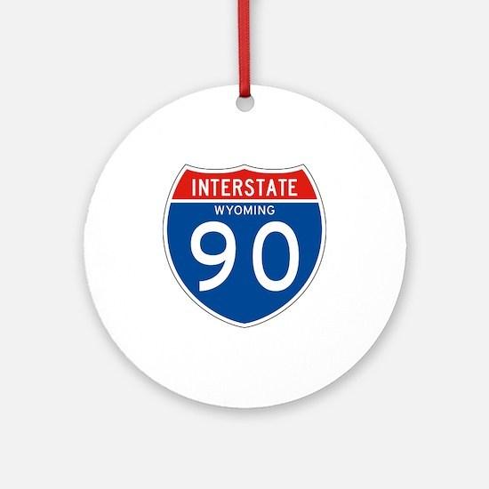 Interstate 90 - WY Ornament (Round)