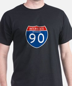 Interstate 90 - WY T-Shirt