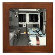 Interiors of an ambulance Framed Tile