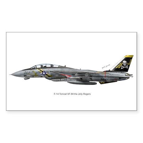 F-14 Tomcat VF-84 the Jolly R Sticker (Rectangular