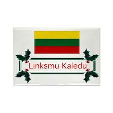 Lithuania Linksmu... Rectangle Magnet (10 pack)