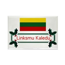 Lithuania Linksmu... Rectangle Magnet