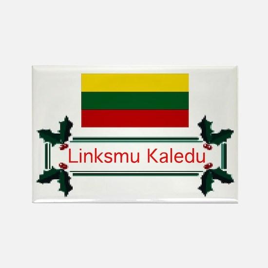 Lithuania Linksmu... Rectangle Magnet