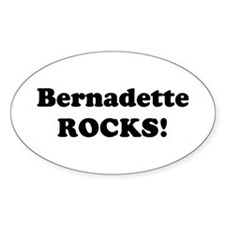 Bernadette Rocks! Oval Decal