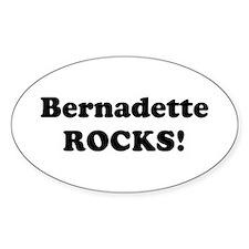 Bernadette Rocks! Oval Stickers