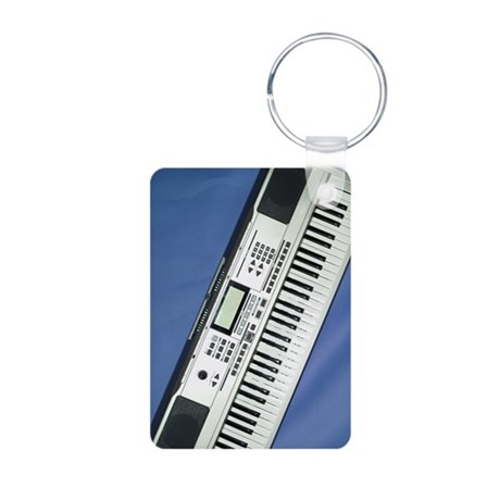 Keyboard Aluminum Photo Keychain