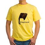 elephant5 Yellow T-Shirt