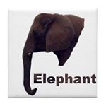 elephant5 Tile Coaster