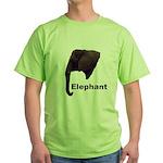 elephant5 Green T-Shirt