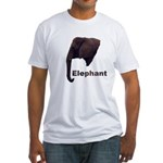 elephant5 Fitted T-Shirt