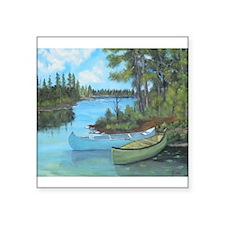 Canoe Painting Sticker