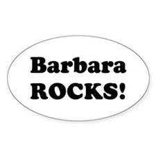 Barbara Rocks! Oval Decal