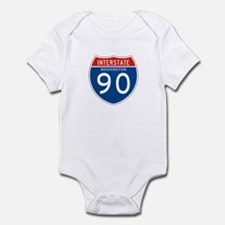 Interstate 90 - WA Infant Bodysuit