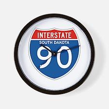 Interstate 90 - SD Wall Clock