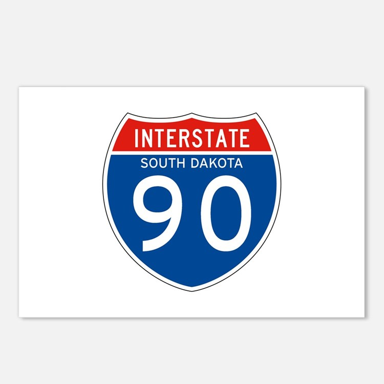 Interstate 90 - SD Postcards (Package of 8)