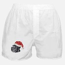 Christmas Giant Schnauzer Boxer Shorts
