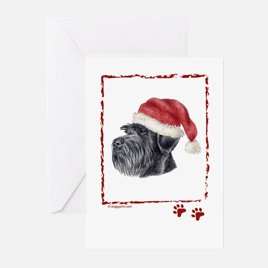 HAppy Holidays Giant Schnauzer Greeting Cards