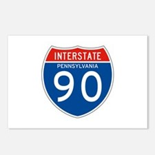 Interstate 90 - PA Postcards (Package of 8)