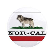 "Nor Cal Wolfdogs 3.5"" Button"