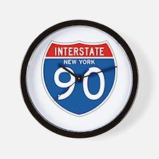 Interstate 90 - NY Wall Clock