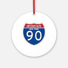 Interstate 90 - NY Ornament (Round)