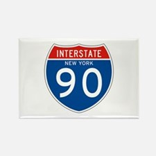 Interstate 90 - NY Rectangle Magnet