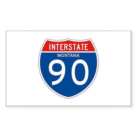 Interstate 90 - MT Rectangle Sticker