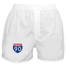 Interstate 90 - MT Boxer Shorts