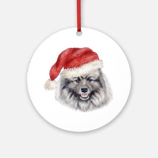 Christmas Keeshond Ornament (Round)