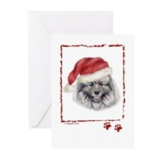 Happy Holidays Keeshond Greeting Card