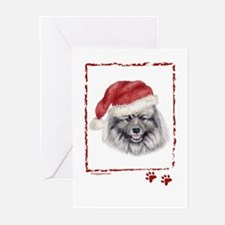 Happy Holidays Keeshond Greeting Card
