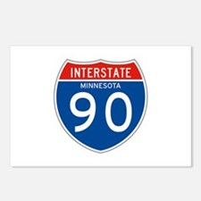 Interstate 90 - MN Postcards (Package of 8)