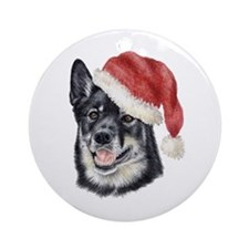 Christmas Lapponian Herder  Ornament (Round)