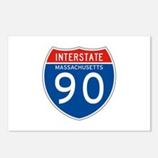 Interstate 90 - MA Postcards (Package of 8)