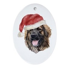 Christmas Leonberger Oval Ornament