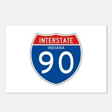Interstate 90 - IN Postcards (Package of 8)