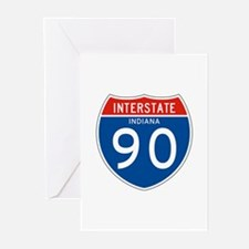 Interstate 90 - IN Greeting Cards (Pk of 10)