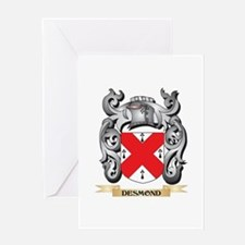 Desmond Coat of Arms - Family Crest Greeting Cards