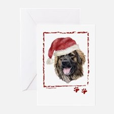 Happy Holidays Leonberger Greeting Cards