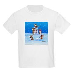 Snow Corgis III Kids T-Shirt