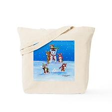 Snow Corgis III Tote Bag