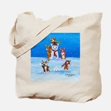 Snow Corgis III Tote Bag