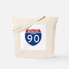 Interstate 90 - IL Tote Bag