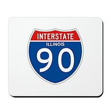 Interstate 90 - IL Mousepad