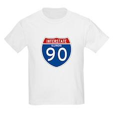 Interstate 90 - IL Kids T-Shirt