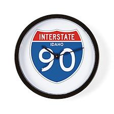 Interstate 90 - ID Wall Clock