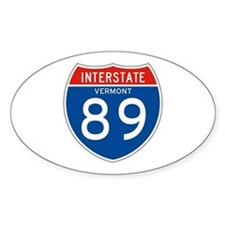 Interstate 89 - VT Oval Decal