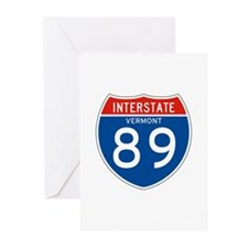 Interstate 89 - VT Greeting Cards (Pk of 10)