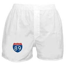 Interstate 89 - VT Boxer Shorts